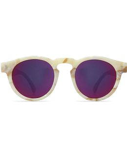 Leonard Cream Marble With Pink Lens