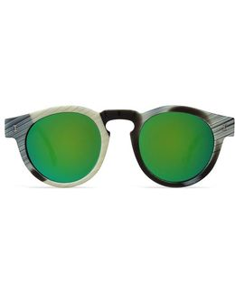Leonard Horn With Green Mirrored Lens