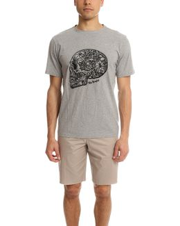 The Round-neck T-shirt With Skull