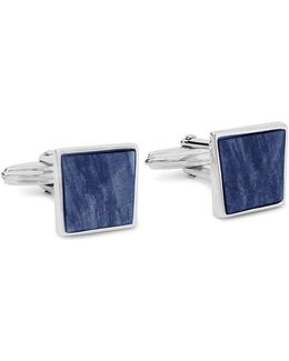 Twisted Plaque Square Cuff Links