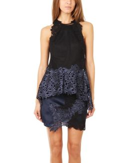 Sleeveless Floral Lace Tank