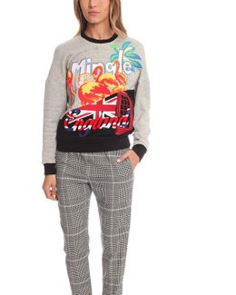 Tourist Logo Embroidered Sweater