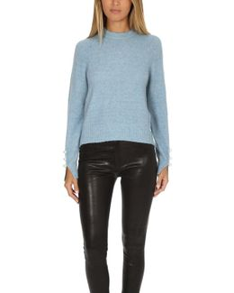 Pullover With Pearl Cuffs