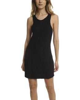 Sleeveless Geometric Stitch Dress