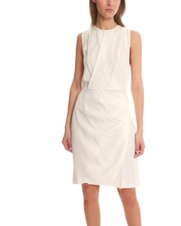 Sleevless Drape Wrap Dress