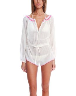 Bali Embroidery Playsuit