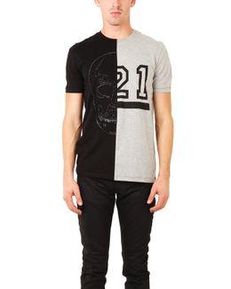 Skull 21 Half T Shirt