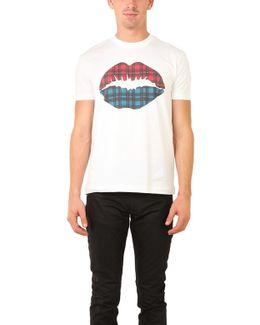 Markus Lufer Tartan Lip Smacker T-shirt