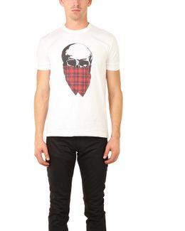 Tartan Skull T Shirt