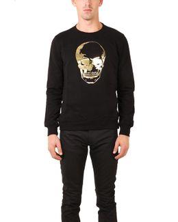 Skull Gold Foil Sweatshirt