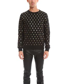 Skull Print Sweatershirt