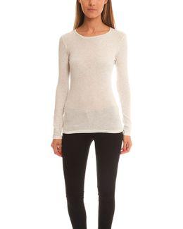 Cotton Cashmere Long Sleeve Crewneck