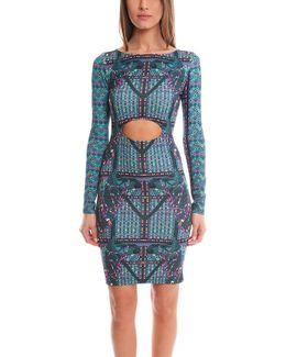 Front Cutout Midi Dress
