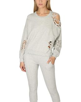 Farah Destroyed Cropped Pullover