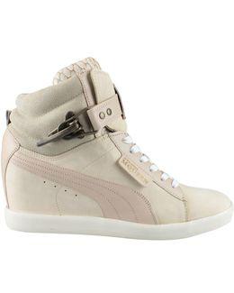 Joustesse Nubuck Wedge High-Top Sneakers