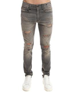 Skate Jean Shredded Grey