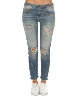 Boy Skinny Shredded Jean
