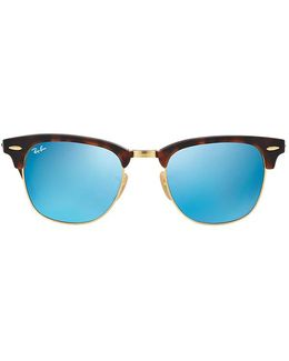 Ray Ban Club Master Tortoise Reflective Blue