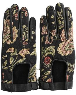 Chevron Quilted Driving Gloves