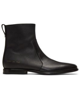 X Common Projects Leather Chelsea Boot