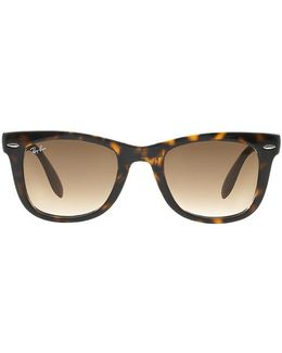 Folding Wayfarer In Tortoise Shell