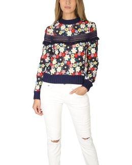 Multicolor 3d Lace Sweatshirt