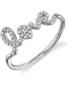 Love Ring - White Gold