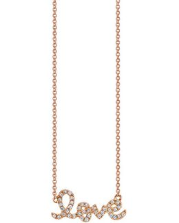 Small Love Necklace Rose Gold