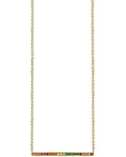Long Micropave Bar Necklace