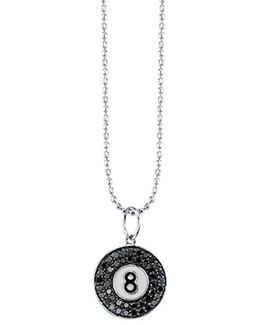 Pave 8 Ball Charm Necklace