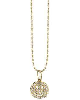 Happy Face Pavé Diamond Necklace