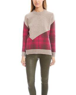 Addition Plaid Combo Crew Sweater