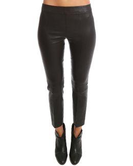 Stitch Front Leather Legging