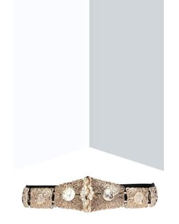 Eve Textured Metal Plate Waist Belt
