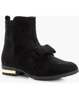 Frankie Bow Detail Ankle Boot