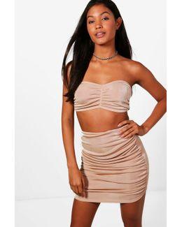 Premium Fi Slinky Bandeau & Skirt Co-ord