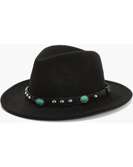 Gracie Stone And Stud Fedora Hat