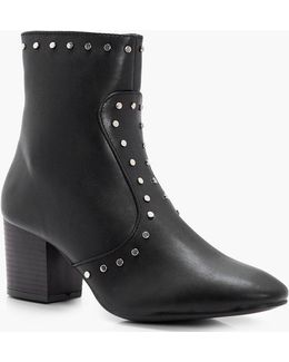 Harriet Stud Detail Ankle Boot