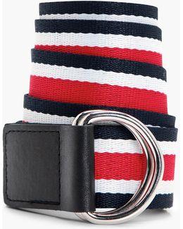 Natalie Multi Stripe Ring Fasten Belt