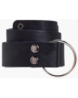 Emma O-ring Popper Stud Boyfriend Belt