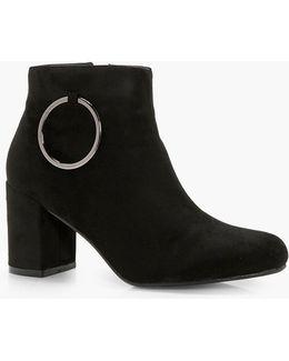 Marie O Ring Detail Block Heel Shoe Boot