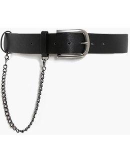 Sophie Chain Detail Boyfriend Belt