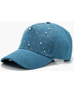 Patsy Pearl Embellished Down Cap