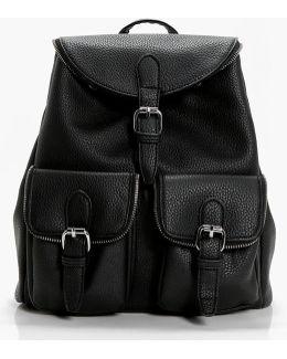 Sarah Zip Trim Pocket Rucksack