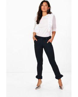 Sarah Ruffle Tailored Trouser