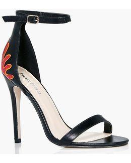 Leila Flame Detail Two Part Sandal