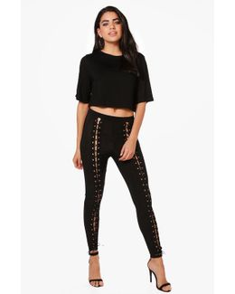 Daisy Lace Up Trousers & Boxy Crop Co-ord Set