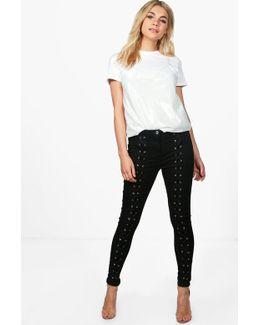 Louise Eyelet Skinny Jeans
