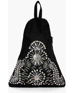 Macie Stud Embellished Triangular Rucksack