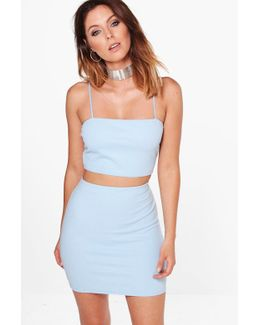Sarah Strappy Crop & Mini Skirt Co-ord Set